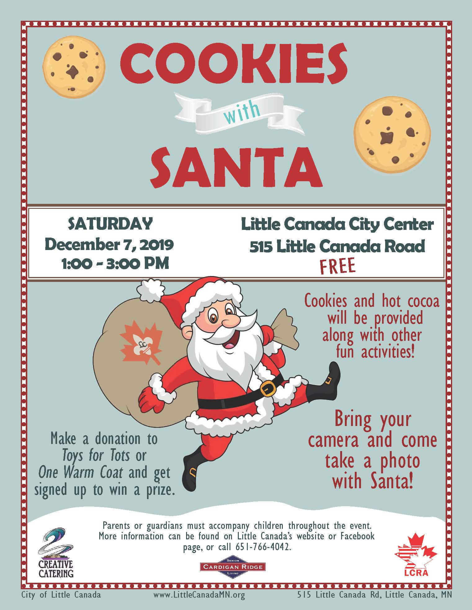 2019 Cookies with Santa Flyer