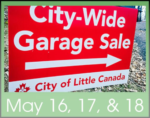 city wide garage sale sign spotlight image