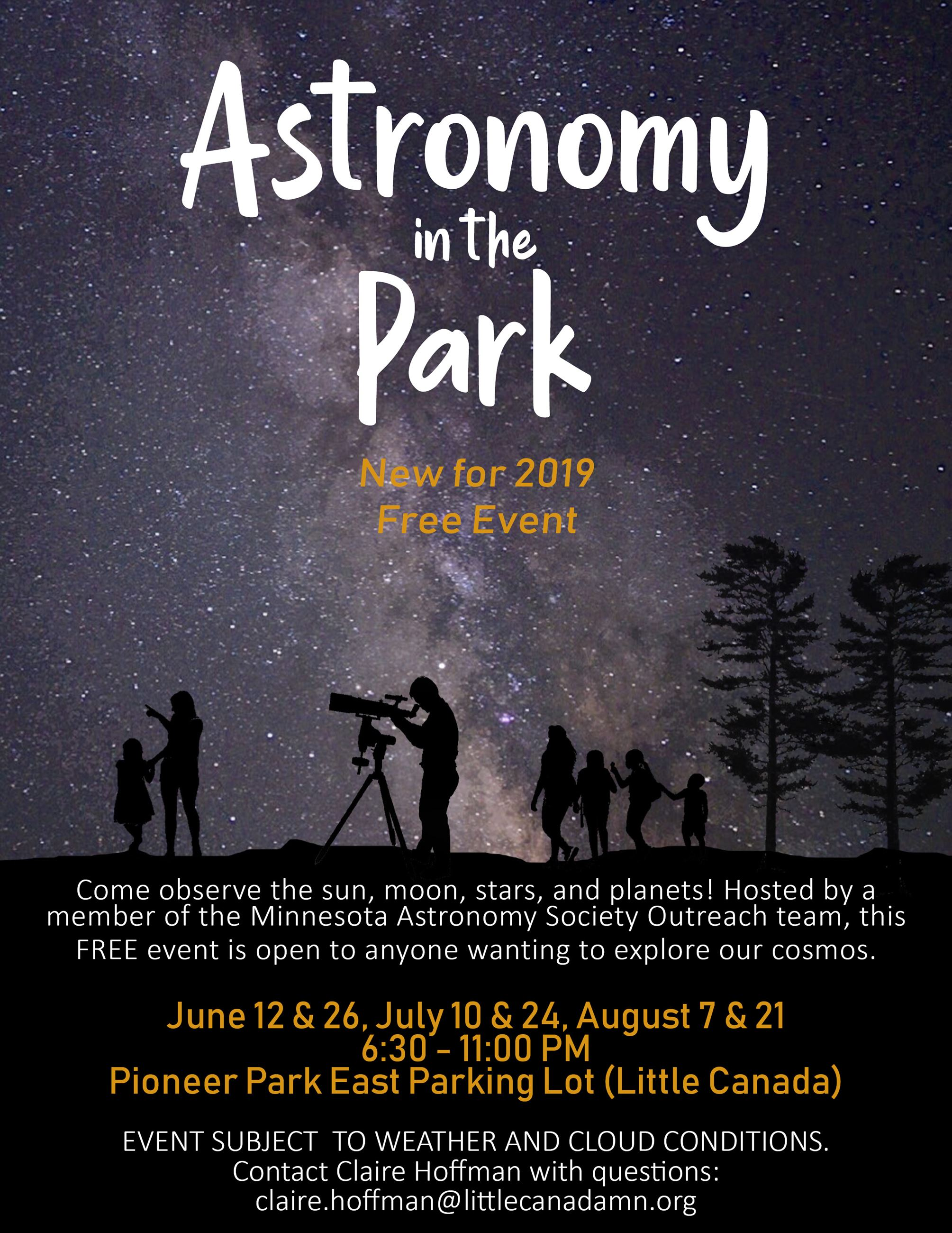 Astonomy in the Park Flyer