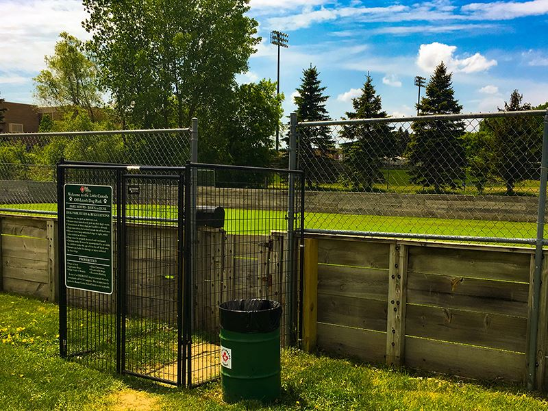 Off Leash Dog Park Entrance