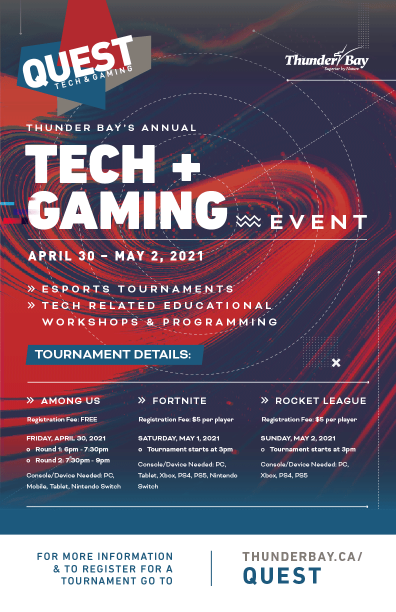 Quest Tech & Gaming Flyer
